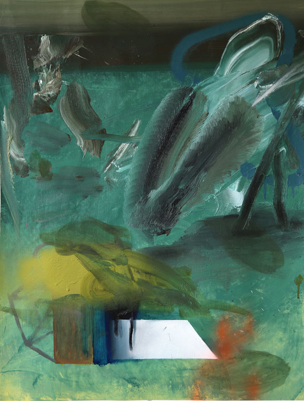 Blue box, 2015, oil and acrylic on canvas 51,5 x 70,5 cm, 20.27 x 27.75 in.