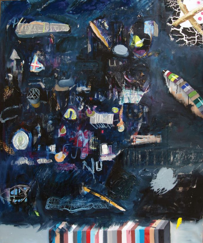 Black Day, 2011, acrylic and oil on canvas, 130 x 160 cm, 51.1 x 62.9 in.