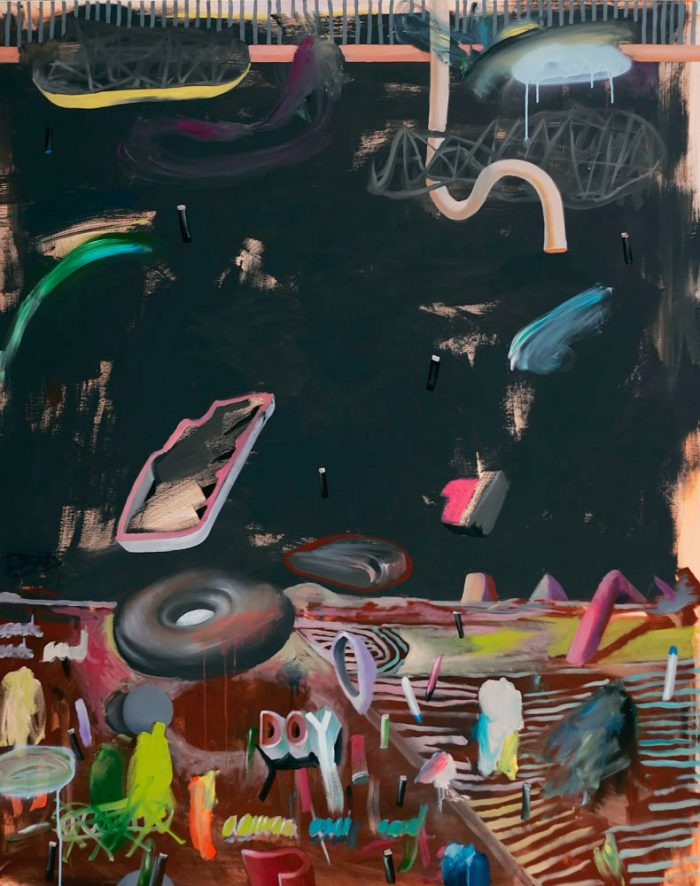 White hole, 2011, acryl and oil on canvas, 130 x160cm, 51.1x 62.9 in.