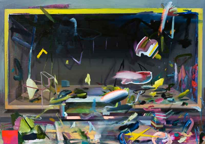 Closed space, 2012, oil and acrylic on canvas, 90 x 130 cm, 35.4 x 51.1 in.