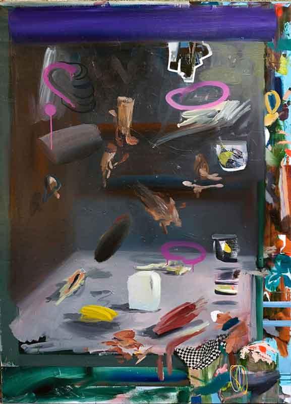 Darkroom Study, 2012, oil and acrylic spray on canvas, 110 x 150 cm, 43.3 x 59.0 in.