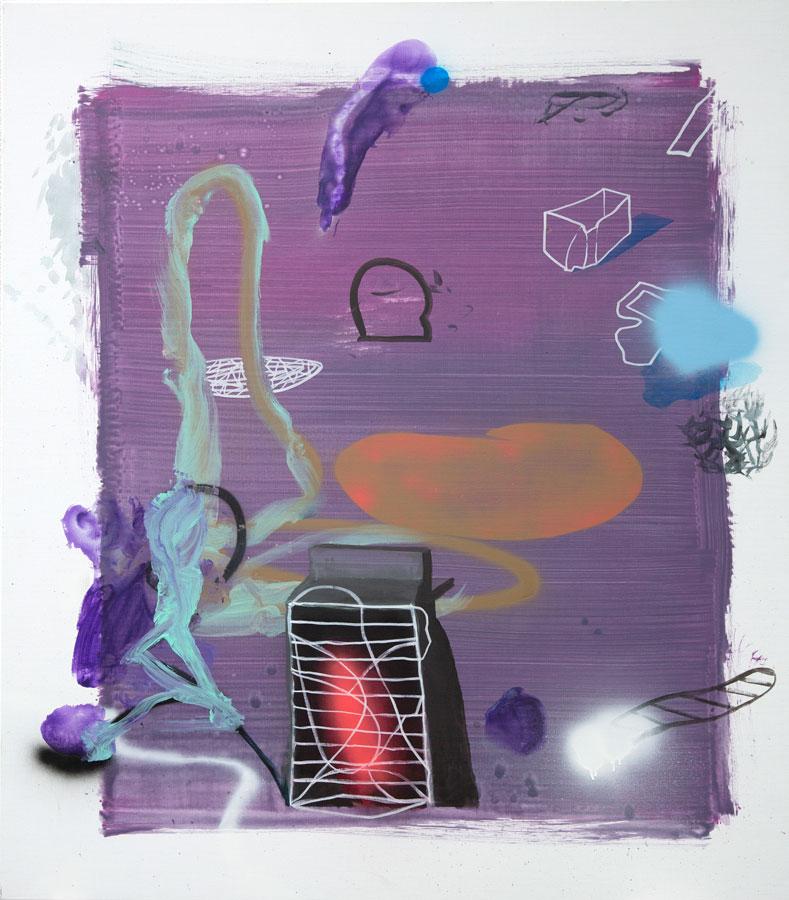 Liquid Painting 1, 2019, acrylic on linen, 130 x 150 cm / 51.1 x 59.0 in.