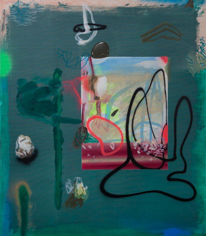 Liquid Painting 2, 2019, acrylic on linen, 130 x 150 cm / 51.1 x 59.0 in.