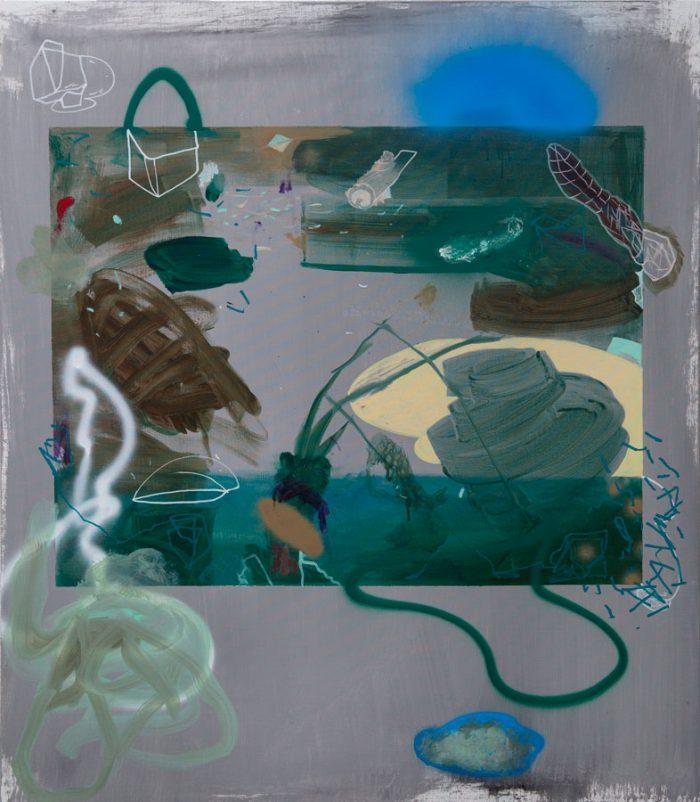 Liquid Painting 3, 2019, acrylic on linen, 130 x 150 cm / 51.1 x 59.0 in.